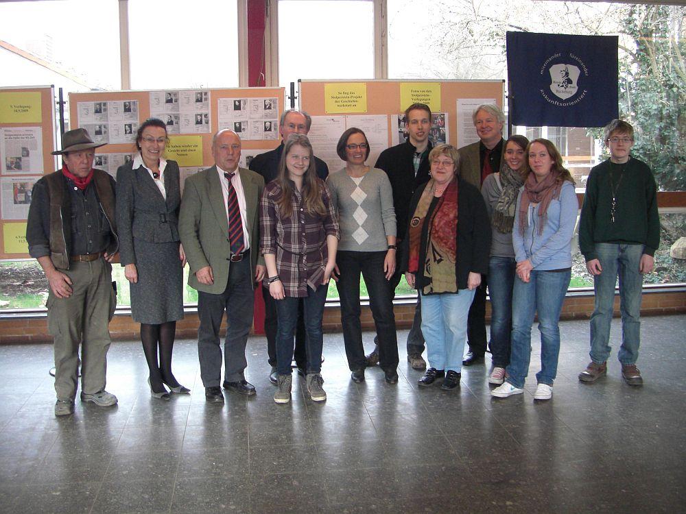 Ausstellungseröffnung in der Herderschule gemeinsam mit dem Künstler