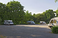 Caravan parking spaces at the castle