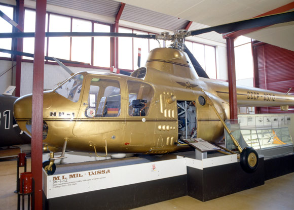 Helicopter exhibited in the Helicopter Museum