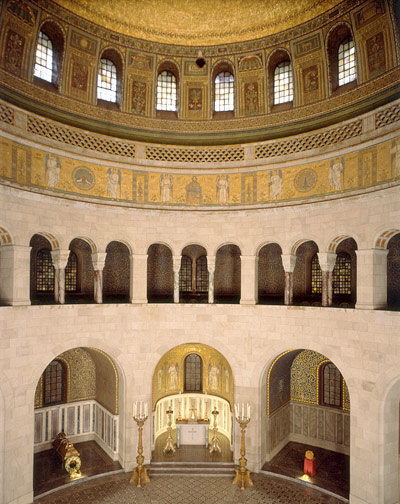 Interior view of the Mausoleum with cupola