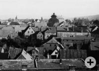 Over the roofs of Bückeburg around 1930