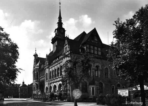 Postkarte vom Rathaus, 1943