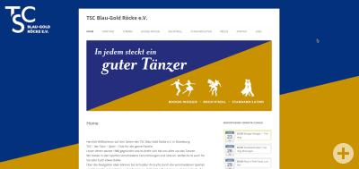 Screenshot der Homepage